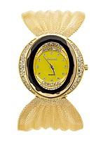 Жен. Модные часы Кварцевый Материал Группа Повседневная Серебристый металл Золотистый