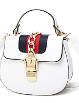 Women Bags All Seasons PU Tote with Ribbon Chain for Wedding Event/Party Casual Sports Formal Outdoor Office & Career White Black Red