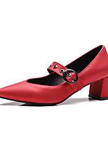 Mujer Tacones Confort Innovador Semicuero Verano Otoño Casual Vestido Tacón Robusto Negro Rojo Verde Menos de 2'5 cms