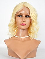 Short Lenght  Body Wave Hair Wigs #613 Lace Front Remy Hair Wigs For Women