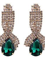 Mujer Pendientes colgantes Pendientes Set Zirconia Cúbica Cristal Geométrico Moda Joyería de Lujo Elegant Bling Bling Zirconio Brillante