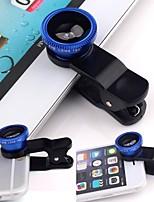 Универсальный 3in1 клип на объектив для камеры широкий угол глаз глаз макрос для смартфона