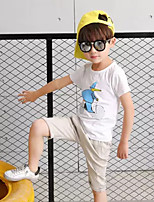 Boys' Cartoon Sets,Cotton Summer Short Sleeve Clothing Set