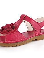 Girls' Sandals Comfort PU Summer Casual White Fuchsia Blushing Pink Flat