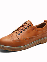 Men's Shoes Cowhide Fall Winter Comfort Oxfords Flower For Casual Party & Evening Office & Career Black Yellow Blue