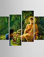 Impresiones en Lienzo Estirado Abstracto,Cuatro Paneles Lienzos cualquier Forma Estampado Decoración de pared For Decoración hogareña