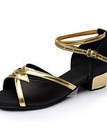 Women's Latin Silk Flats Indoor Buckle Customized Heel Black Customizable