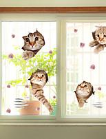 Window Film Window Decals Style Funny Cat PVC Window Film