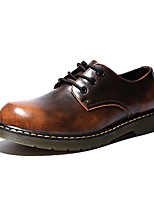 Men's Oxfords Comfort Light Soles Fall Winter Real Leather PU Leather Nappa Leather Casual Office & Career Party & Evening Flat Heel