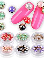 8PCS Nail  Art Catch Joe The Lacquer That Bake Shell Pearl Delicate Metal Act The Role Ofing Is Tasted