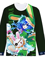 Inspired by Date A Live Cosplay Anime Cosplay Costumes Cosplay T-shirt Cartoon Long Sleeves Top For Unisex