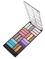 24 Paleta de Sombras Brilho Paleta da sombra Pó Maquiagem para o Dia A Dia Maquiagem de Festa Maquiagem Esfumada