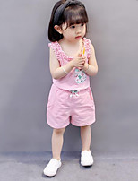 Girls' Floral Sets,Cotton Summer Clothing Set