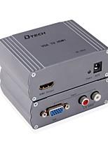 DTech VGA 2RCA Converter VGA 2RCA to HDMI 1.4 Converter Female - Female 1080P