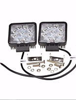 2 X 27W  4 Inch FLOOD Lamp Led Truck Off-road SUV UTE Work Light