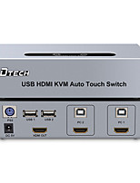 DTech HDMI 1.4 Splitter HDMI 1.4 to HDMI 1.4 USB 2.0 Splitter Female - Female