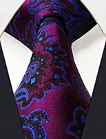 SXL13 Fashion Classic For Men Neckties Unique Extra Long 63 Purple Pattern 100% Silk Business