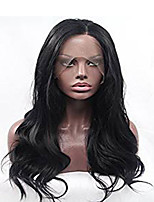 Full Lace Human Hair Wigs Glueless Comfortable Wearing For Black Women Natural Black Wave
