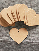 50pcs Brown Kraft Paper Tag 5.5*5cm/pcs DIY Wedding Favor Beter Gifts® Practical DIY Thank You Tag