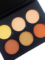 6 Color in 1 Palette , 4 Color Palette Select Poudre Correcteur/Contour Fards Bronzeurs Sec Mat Poudre Compact Blanchiment Lissage de la