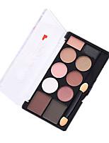 10 Paleta de Sombras Mate Brilho Paleta da sombra PóMaquiagem para o Dia A Dia Maquiagem para Dias das Bruxas Maquiagem de Festa