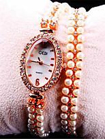 Жен. Модные часы Кварцевый сплав Группа Золотистый