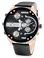 Sport Watch Quartz / Leather Band Casual Black Brand JUBAOLI