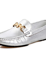 Herren Loafers & Slip-Ons Mokassin Nappaleder Herbst Winter Normal Party & Festivität Gold Silber Flach