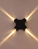 12 LED Integrated Simple Novelty Country Feature for LED Eye ProtectionAmbient Light Wall Sconces Cross Star Outdoor Waterproof Courtyard Wall Lamp