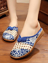 Women's Shoes Fabric Summer Comfort Slippers & Flip-Flops For Casual Red Blue