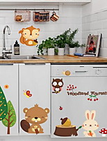 Botanical Animal Wall Stickers Plane Wall Stickers Decorative Wall Stickers,Plastic Material Home Decoration Wall Decal