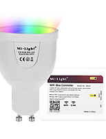 GU10 5W 2.4GHz RGB White Stepless Dimming Phone-Wifi Remote Control Dimming Smart Bulb Lighting AC85 - 265V with WiFi Controller