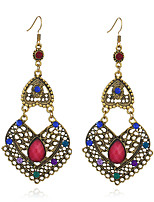 Women's Earrings Set Basic Vintage Hypoallergenic Emerald Alloy Jewelry For Gift Evening Party Stage Club Street