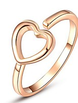 Settings Ring Band Ring  Luxury Women's Euramerican Fashion Simple Style Heart  Ring Wedding Valentine Party Movie Gift Jewelry
