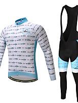 Maillot de Ciclismo con Mallas Bib Hombre No Especificado Manga Larga Bicicleta Pantalones/Sobrepantalón Camiseta/Maillot Medias/Mallas