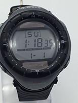 Муж. Спортивные часы Наручные часы Китайский Солнечная энергия Календарь тревога Хронометр Фосфоресцирующий Pезина Группа Cool Черный