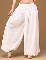 Belly Dance Women's Performance Spandex Lace 1 Piece Dropped Harem Pants Wide Leg Loose Long Trousers Bloomers