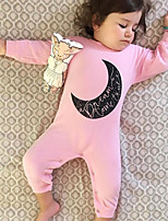 Baby Romper Moon Print One-Pieces Cotton Spring/Fall Winter Long Sleeve Kids Girls Bodysuits Jumpsuits