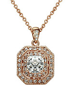 Women's Pendant Necklaces AAA Cubic Zirconia Gold Plated Bohemian Jewelry For Wedding Party Graduation Engagement Date