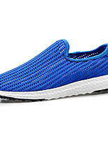 Men's Loafers & Slip-Ons Comfort Spring Fall Tulle Walking Shoes Athletic Flat Heel White Black Royal Blue Flat