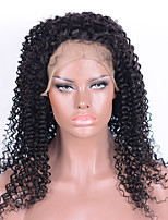 130% Density Lace Front Human Hair Wigs 100% Brazilian Virgin Remy Human Hair Kinky Curly Wigs with Baby Hair For Black Woman 16-26 Inches