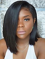 Indian Virgin Hair Wigs Straight Short Bob Wigs Middle Parting Guleless Full Lace Wigs For Black Women Lace Front Wig Bob Wigs Large Stocks