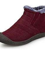 Men's Boot Comfort Fall Winter PU Casual Flat Heel Blue Ruby Yellow Black Flat