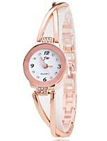 Mujer Reloj de Vestir Reloj de Moda Reloj de Pulsera Chino Cuarzo La imitación de diamante Aleación Banda Cosecha Casual Elegantes Plata