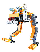 DIY KIT Building Blocks Educational Toy Robot For Gift  Building Blocks Fighter Robot Plastics Acetate/Plastic ABS 6 Years Old and Above