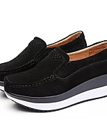 Men's Loafers & Slip-Ons Comfort Spring Fall PU Swing Shoes Casual Ruched Flat Heel Black Gray Ruby Blue Flat