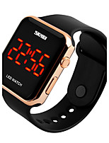 Women's Men's Sport Watch Digital Watch Digital LED Calendar Water Resistant / Water Proof PU Band Black White Pink