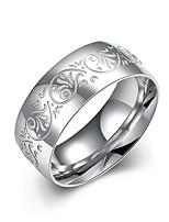 Herrn Ring Schmuck Blumen Modeschmuck Edelstahl Kreisform Schmuck Für Hochzeit Party Büro/Geschäftlich Alltagskleidung