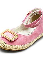 Girls' Flats Comfort Spring Fall Suede Casual Blushing Pink Yellow Black Flat