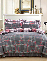 Luxury 4 Piece Cotton Cotton 4pcs (1 Duvet Cover, 1 Flat Sheet, 2 Shams)